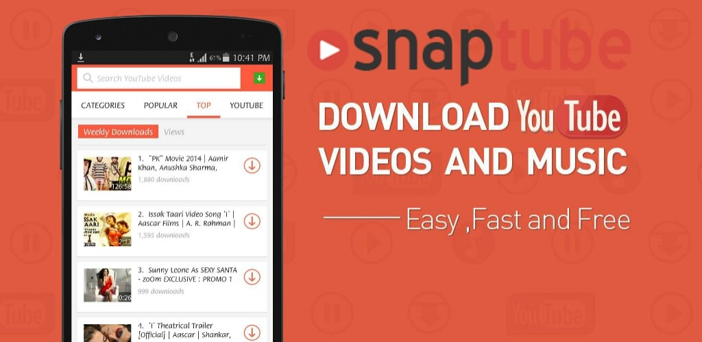 Chrome cast is One of the Greatest Features of SnapTube Application