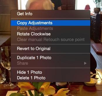 copy adjustments