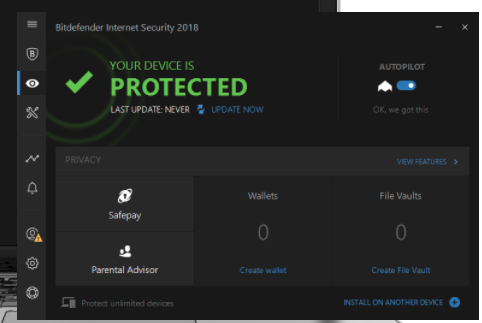 BitDefender Internet Security - best anti-ransomware protection software