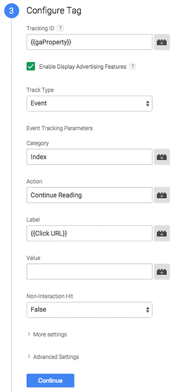 configure tag