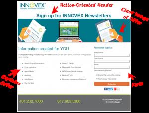 INNOVEX Good Landing Page