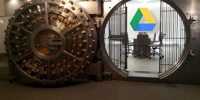 password protect Google drive folders