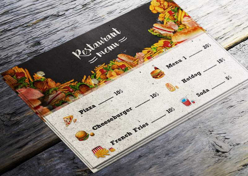 Create A Restaurant Menu