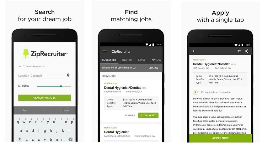 ziprecruter app for job search