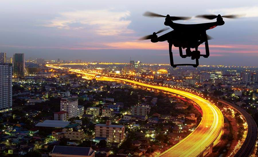 Drones in assessing a situations