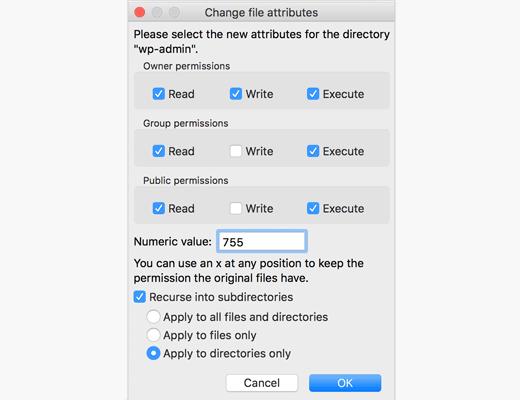 change file attributes