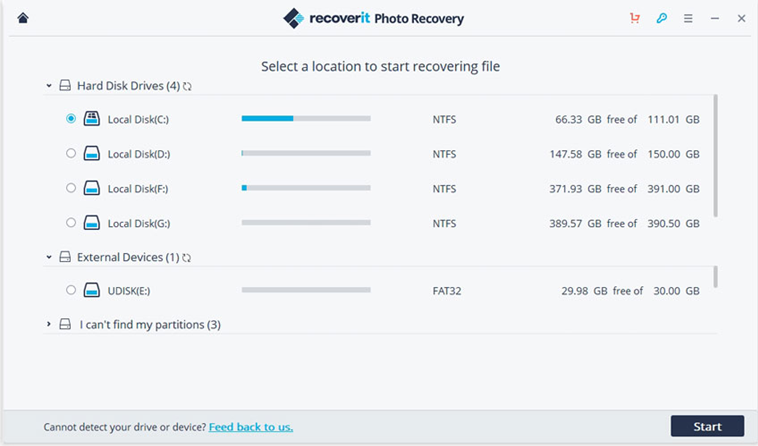 recover deleted files from Windows 10